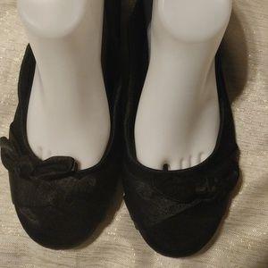 Pop Memory Foam Mirna Black Flats Size 9.5M